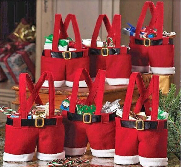 5pcs lot santa pants style creative christmas candy